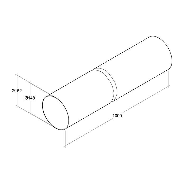 Air-Circle Tube rond PVC Ø 150 mm  x 1 m