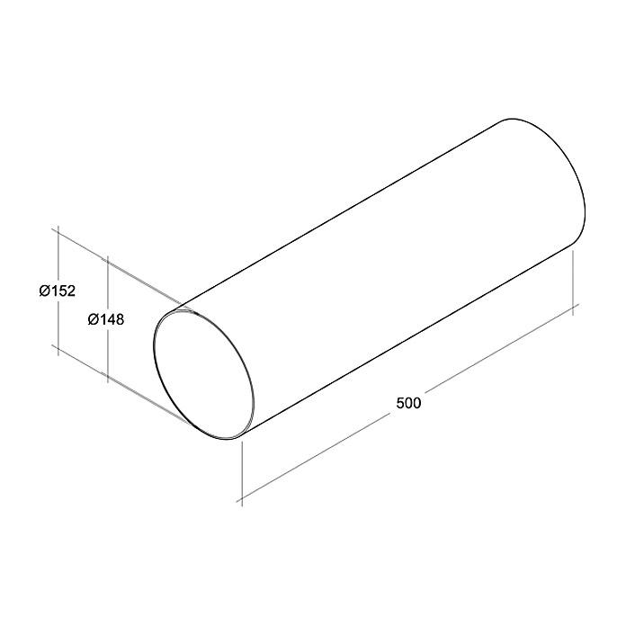 Air-Circle Tube rond PVC Ø 150 mm x 0.5 m