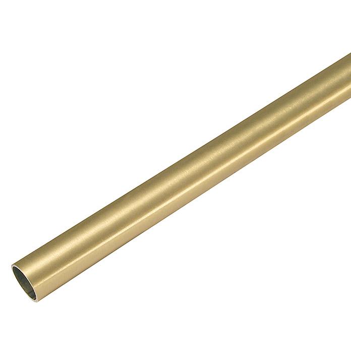 SOMBRA Vorhangstange Messing Rohr 120 cm