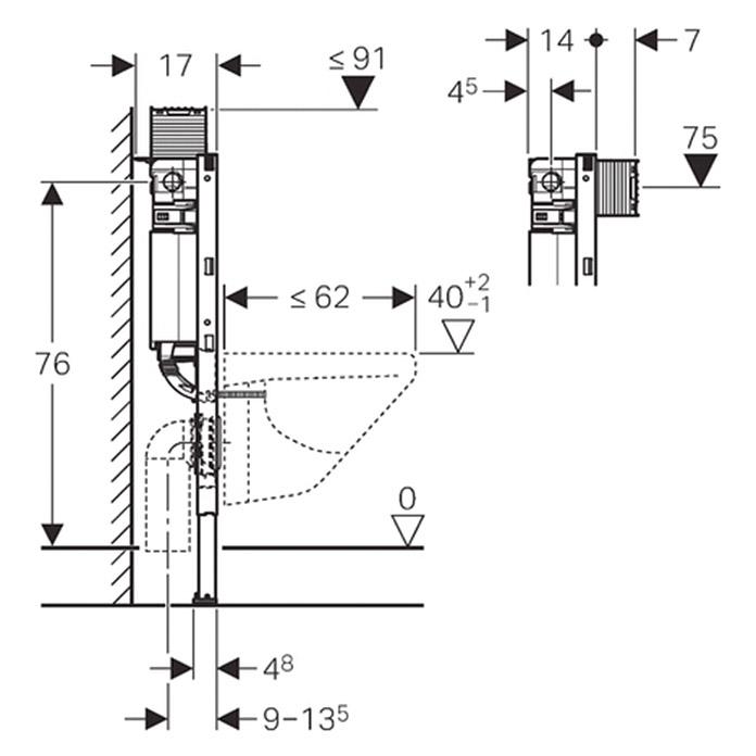GEBERIT Duofix Wand-WC-Montageelement Typ 82 bei BAUHAUS kaufen