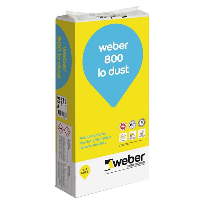 800 Mortier Adhésif Lo Dust Flex Weber