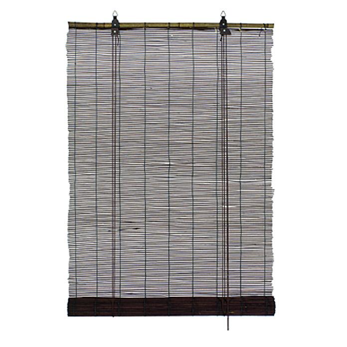 Tenda A Rullo 140.Tenda A Rullo Basic In Bambu Cioccolato 140 X 160 Cm