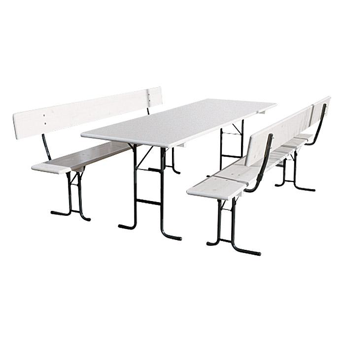 Table Et Bancs Pliants Exclusive Blanc Acheter Chez Bauhaus