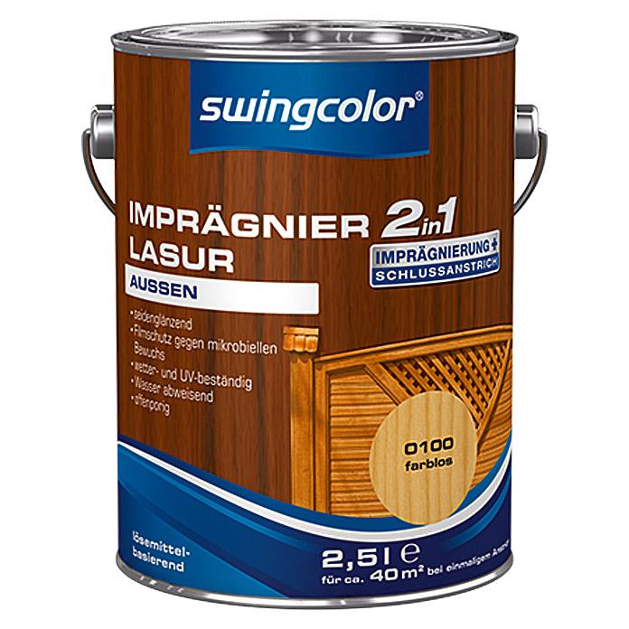 Lasure d'imprégnation 2 en 1 swingcolor incolore