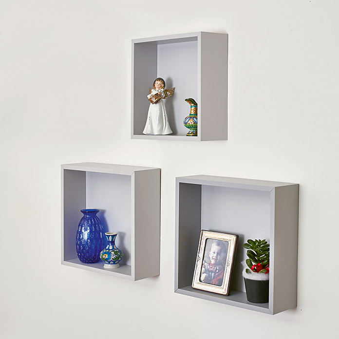 Dekoregalset Cube Tris Steingrau