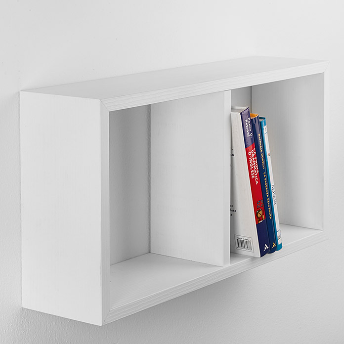 Mensole Frassino Bianco.Mensola Decorativa Cube Yasmine Frassino Bianco