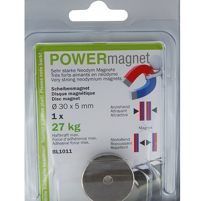 POWERmagnet Zylinderform 30x5 mm