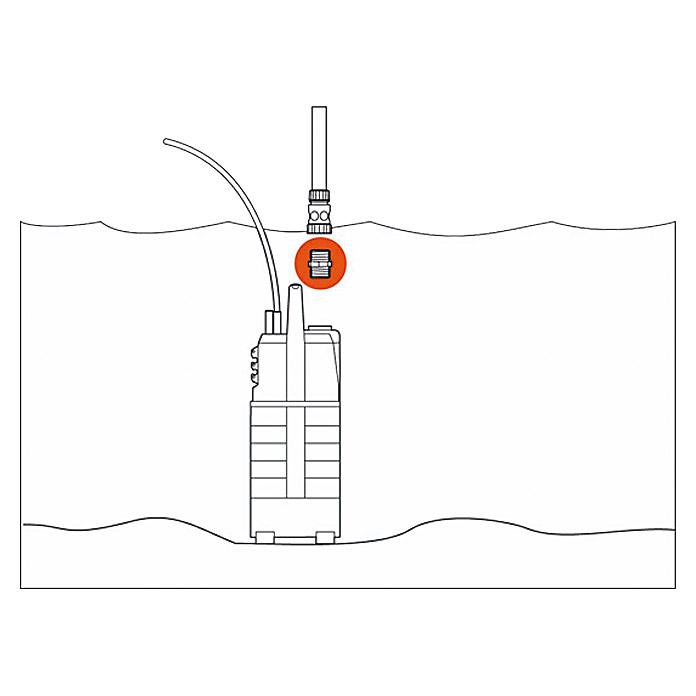 Pièce de raccordement pour pompes GARDENA