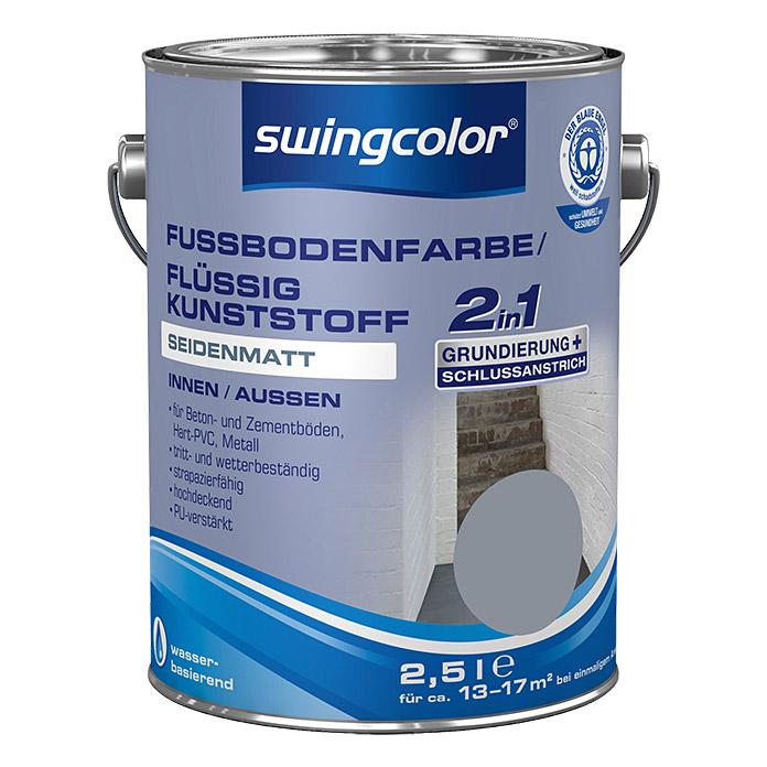 Peinture pour sol/résine synthétique liquide 2 en 1 swingcolor RAL 7001