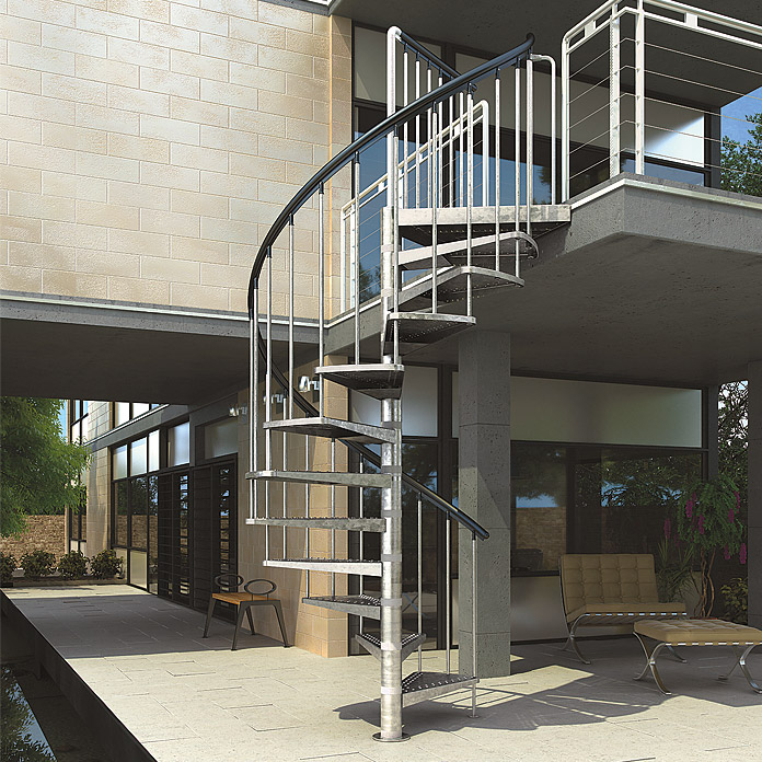 Escalier extérieur en colimaçon Gardenspin DOLLE