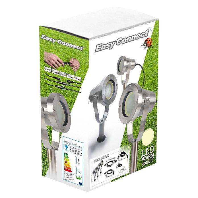 Easy Connect® LED-Strahler-Set Alu gebürstet