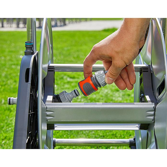 Enrouleur métallique pour tuyau flexible GARDENA AQUAROLL