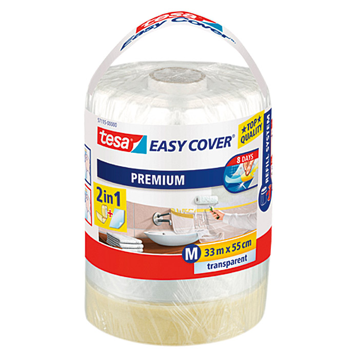 tesa Film de masquage Easy Cover Premium Refill