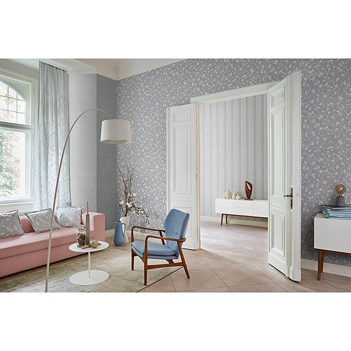 FREUNDIN HOME COLLECTION III Papier peint non tissé gris floral