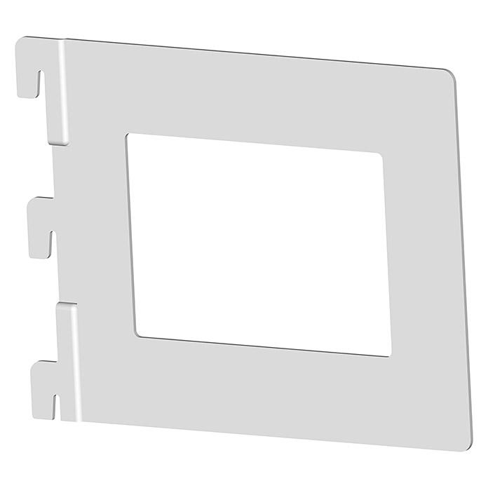 Bücherbügel Weiss/Aluminium