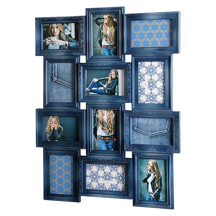 Cadre de photos collage baroque jeans