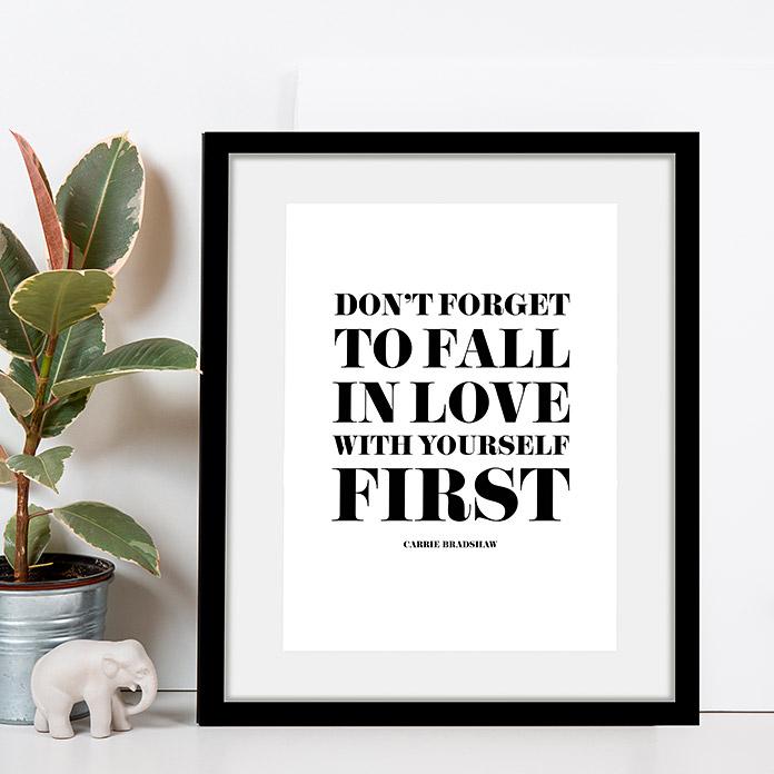 Rahmenbild Don't forget