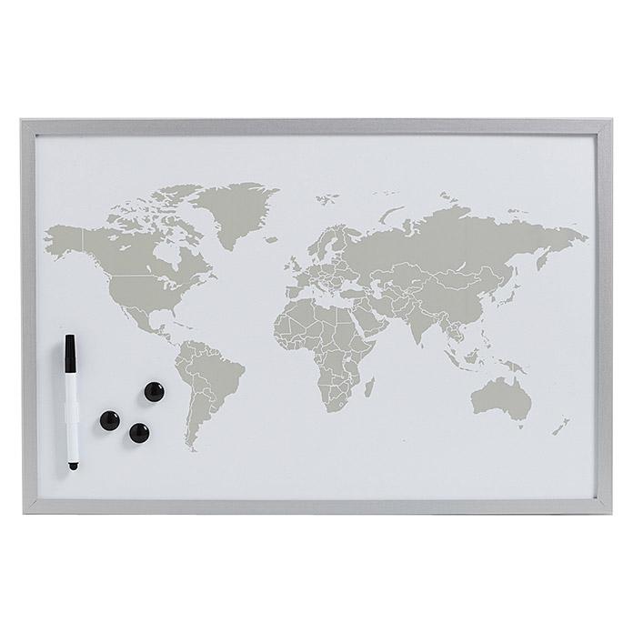 und Schreibtafel Memo Zeller Magnet 60 x 20 cm natur