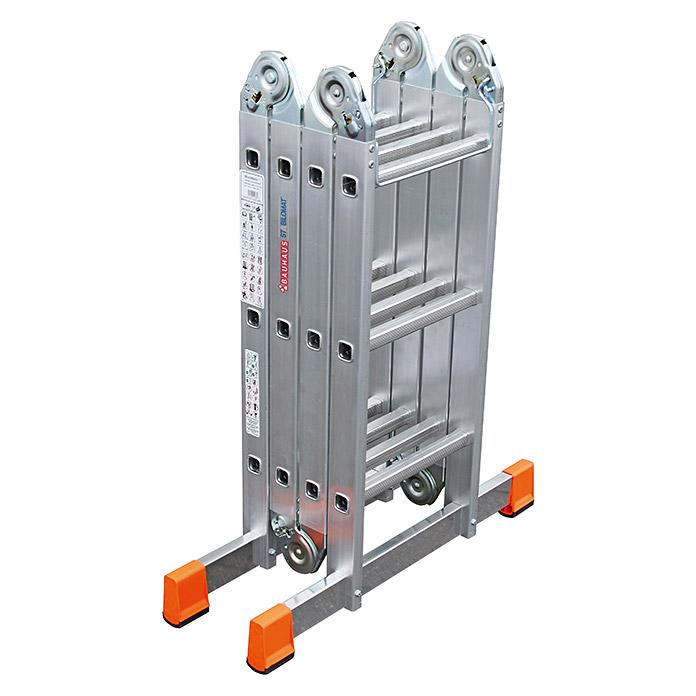 Krause Multimatic Scala articolata universale in alluminio 4 x 3 gradini