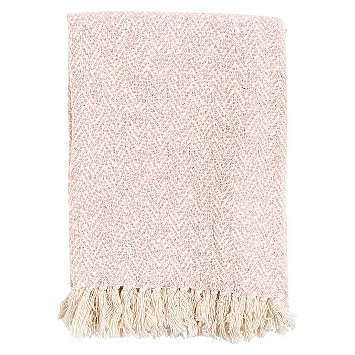 Decke Zig Zag Soft Pink