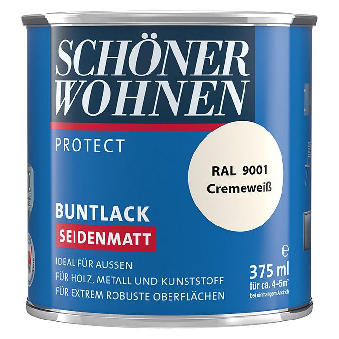 SCHÖNER WOHNEN PROTECT laque couleur blanc crème satiné