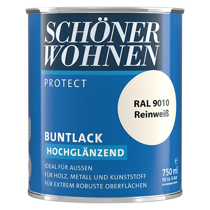 SCHÖNER WOHNEN PROTECT laque couleur blanc pur brillante