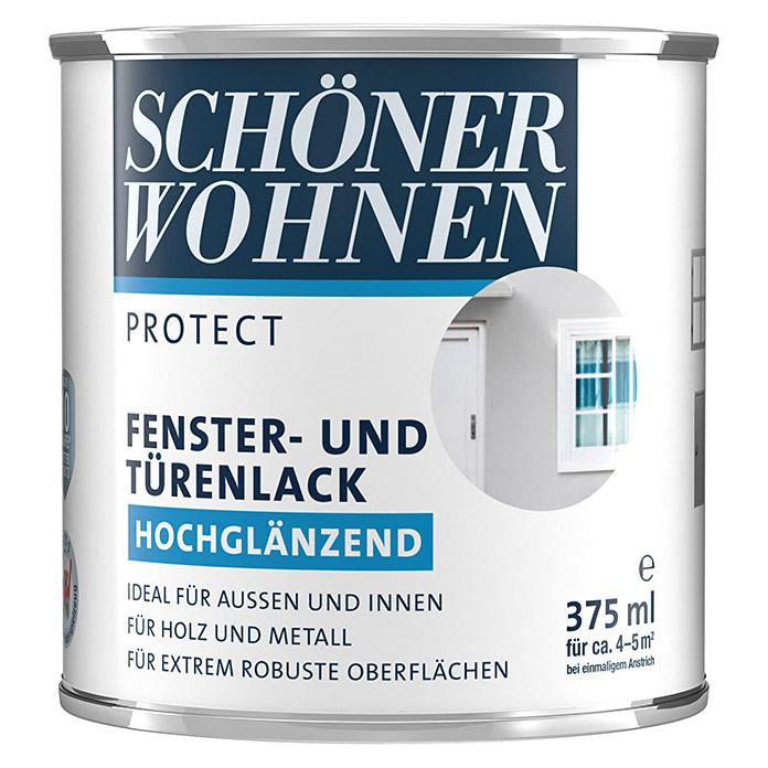 SCHÖNER WOHNEN  PROTECT laque pour fenêtres et portes blanc brillante