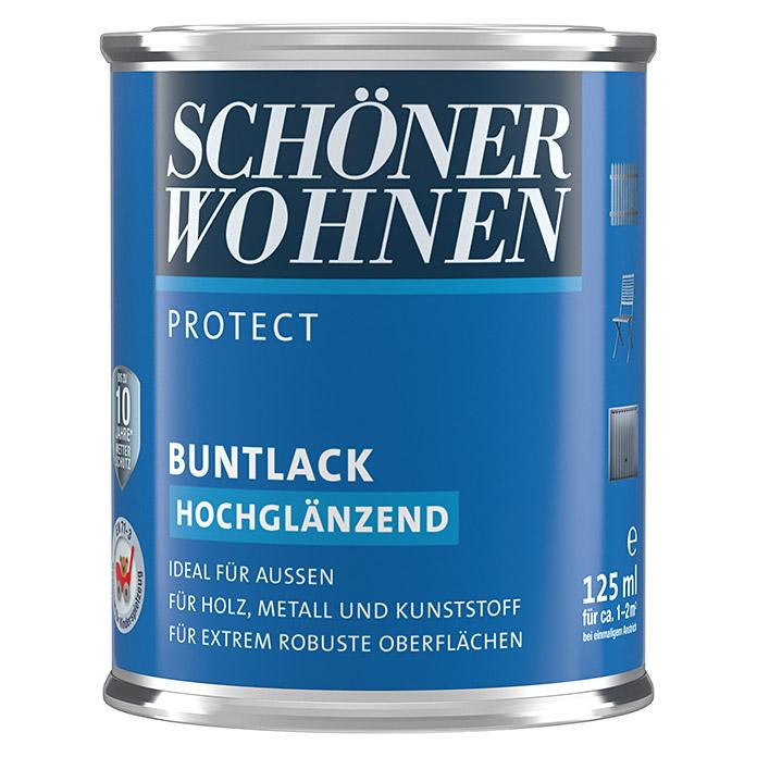 SCHÖNER WOHNEN PROTECT Buntlack Erdbraun hochglänzend