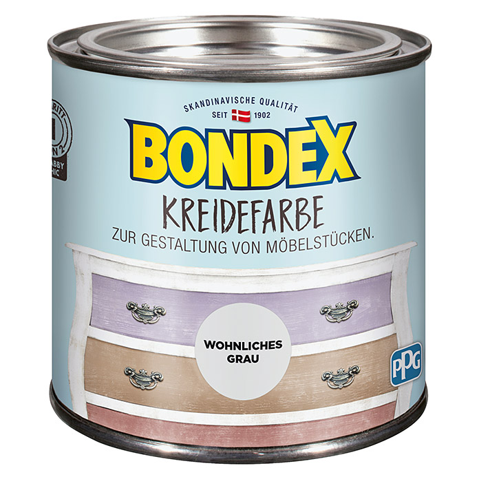 BONDEX Kreidefarbe wohnliches Grau