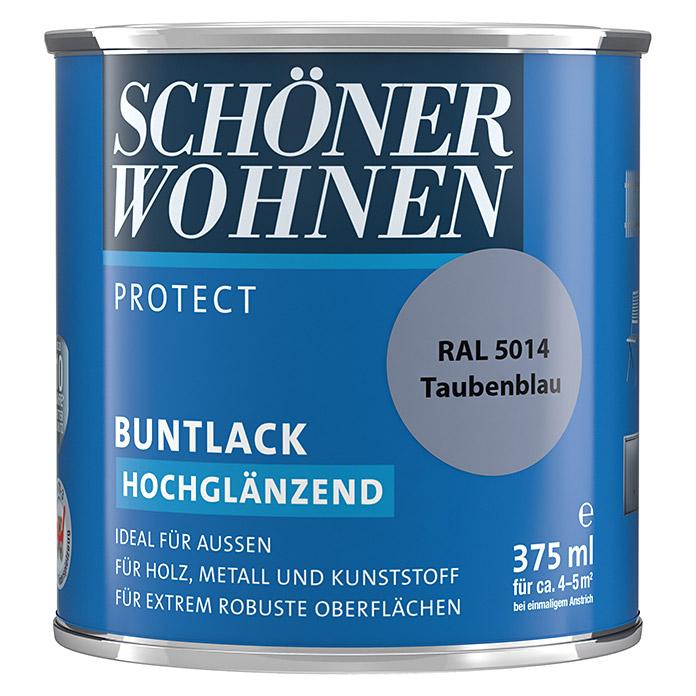 SCHÖNER WOHNEN PROTECT Buntlack Taubenblau hochglänzend