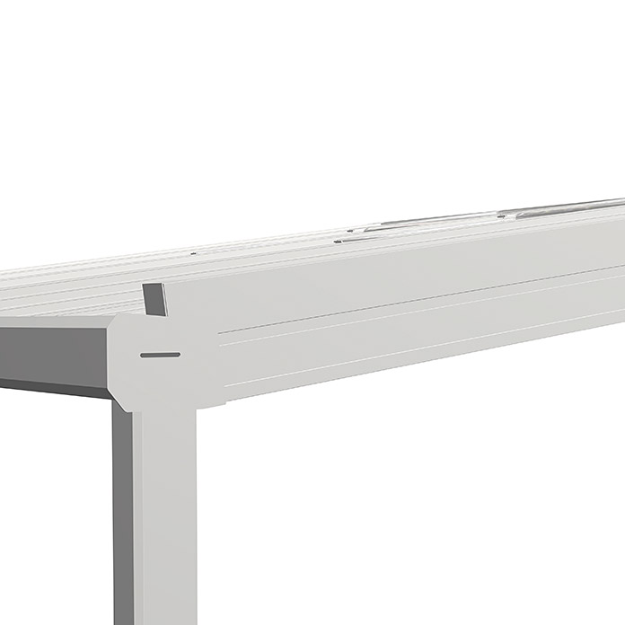 Auvent de terrasse Special Edition avec toit coulissant 4 x 3.5 m