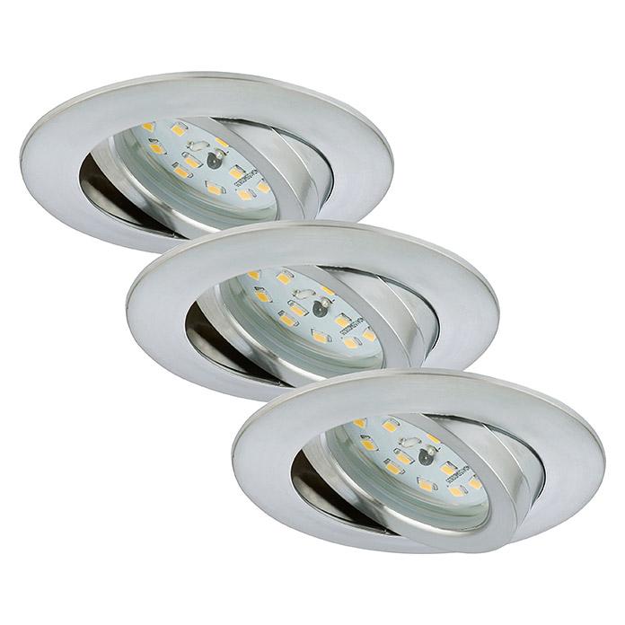 Briloner Leuchten LED Einbaulampen Set Rund