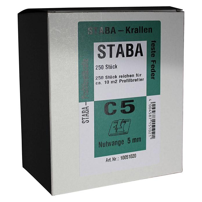 Agrafes de fixation STABA C 5 pour lambris