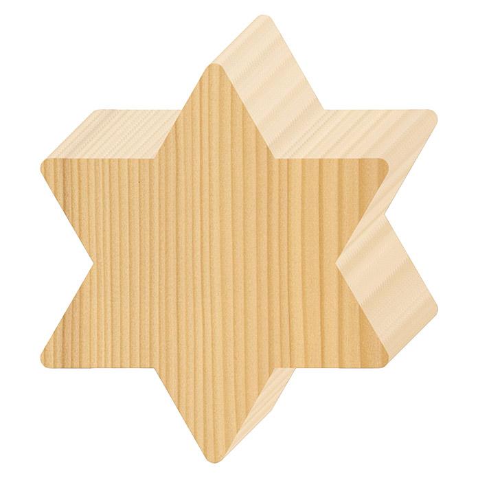 Plinthe en bois à bois motif étoile
