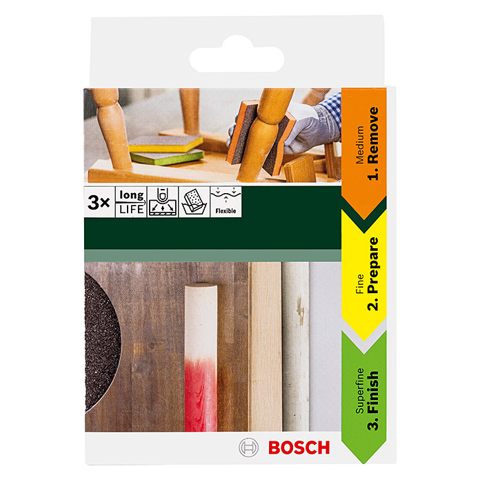 Kit d'éponges abrasives Kontur Bosch