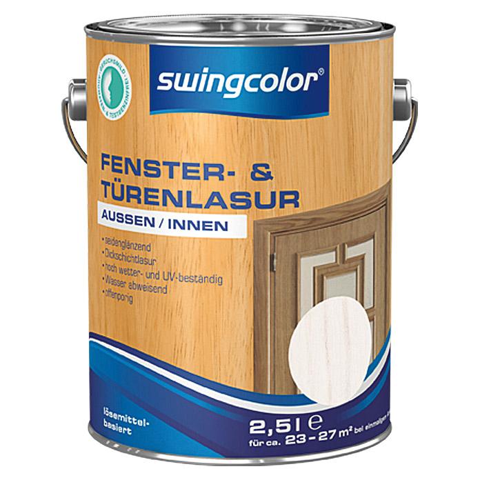 swingcolor fenster und t renlasur kalkweiss bei bauhaus. Black Bedroom Furniture Sets. Home Design Ideas