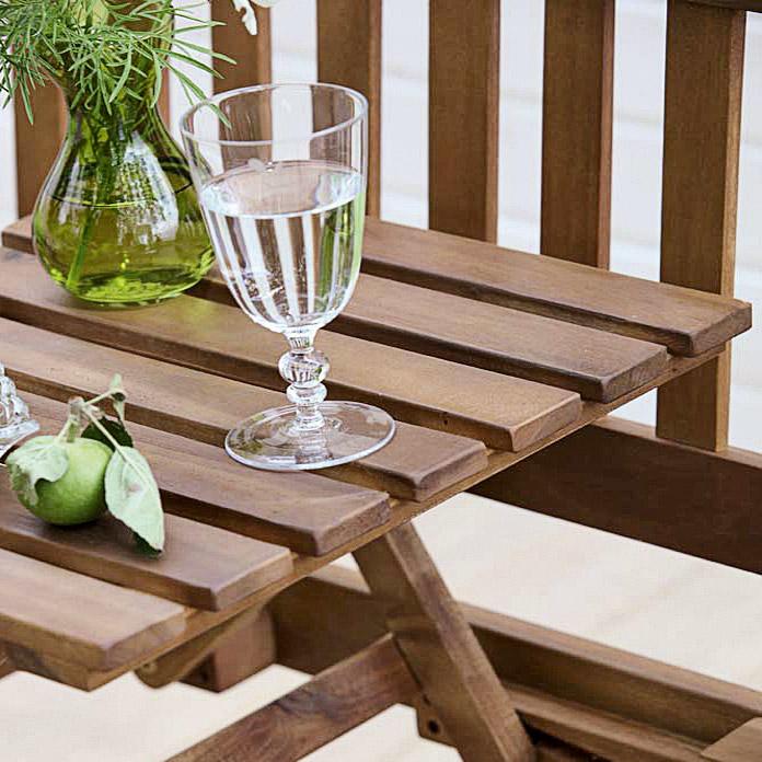 Sunfun Banc En Bois Avec Table Elements Diana Acheter Chez Bauhaus