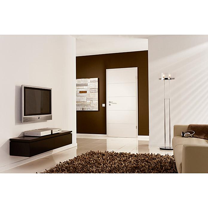 GetaDoor Porte de chambre Straight Line blanc 800 x 2015 mm