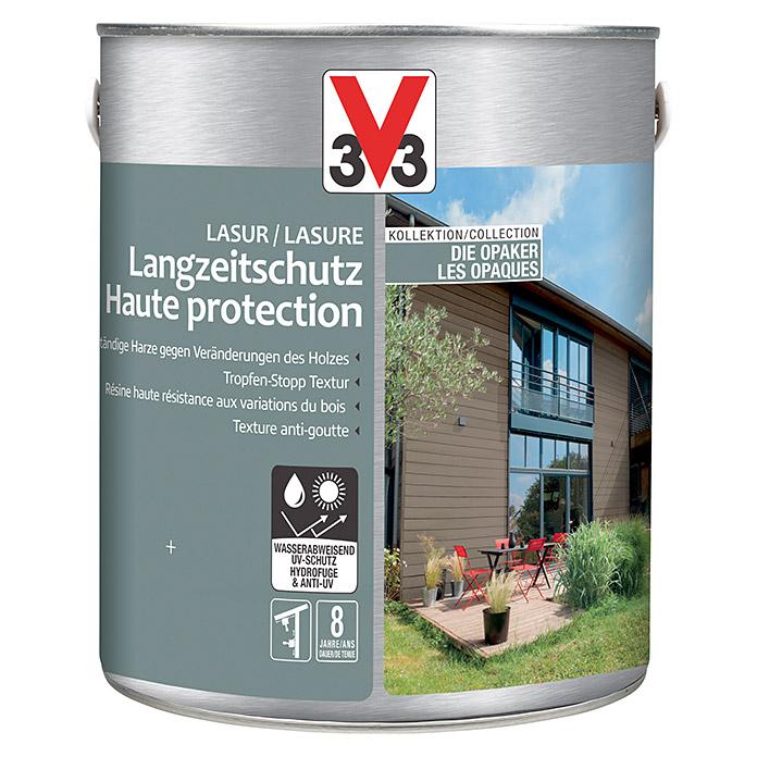 V33 opake Langzeitschutzlasur Kastanie