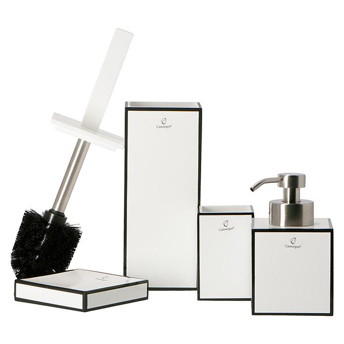 Camargue Ensemble de brosse WC Couture blanc