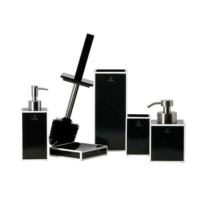 Camargue Bicchiere portaspazzolini Couture nero