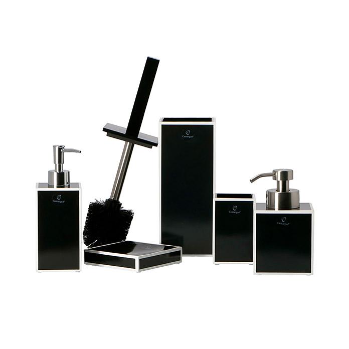 Camargue Distributeur de savon Couture noir haute