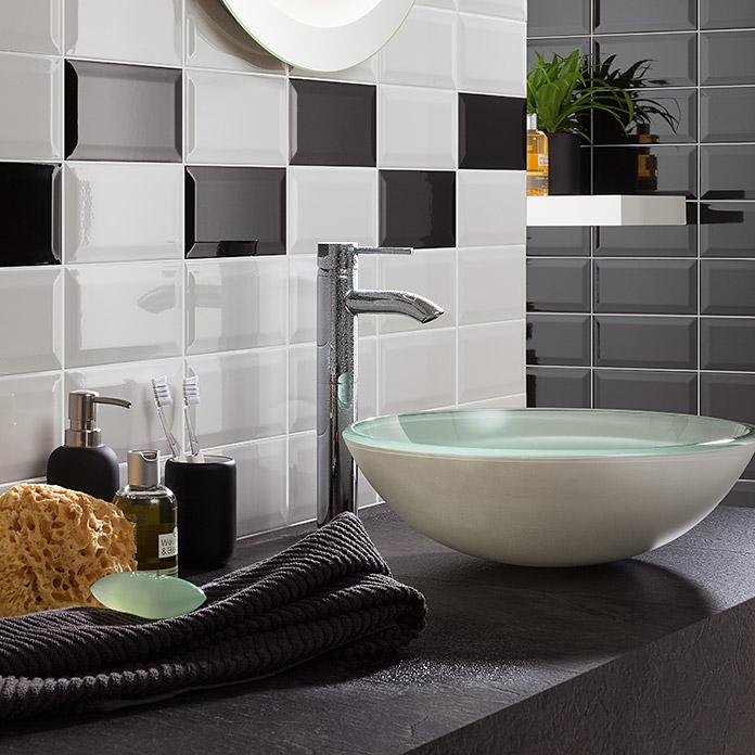 carrelage mural metro glossy noir acheter chez bauhaus. Black Bedroom Furniture Sets. Home Design Ideas