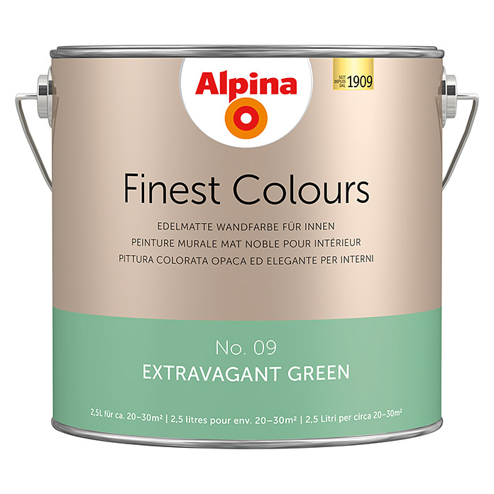 Alpina Finest Colours Wandfarbe Extravagent Green