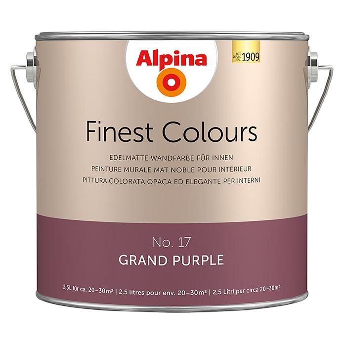 Peinture murale Alpina Finest Colours Grand Purple