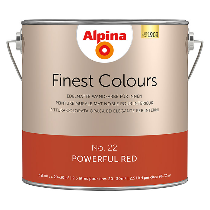 Alpina Finest Colours Wandfarbe Powerful Red Bei BAUHAUS