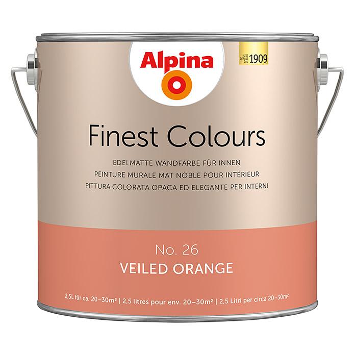 Alpina Wandfarbe: Alpina Finest Colours Wandfarbe Veiled Orange Bei BAUHAUS