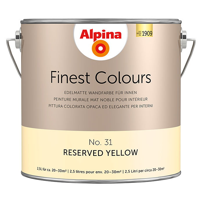 Peinture murale Alpina Finest Colours Reserved Yellow