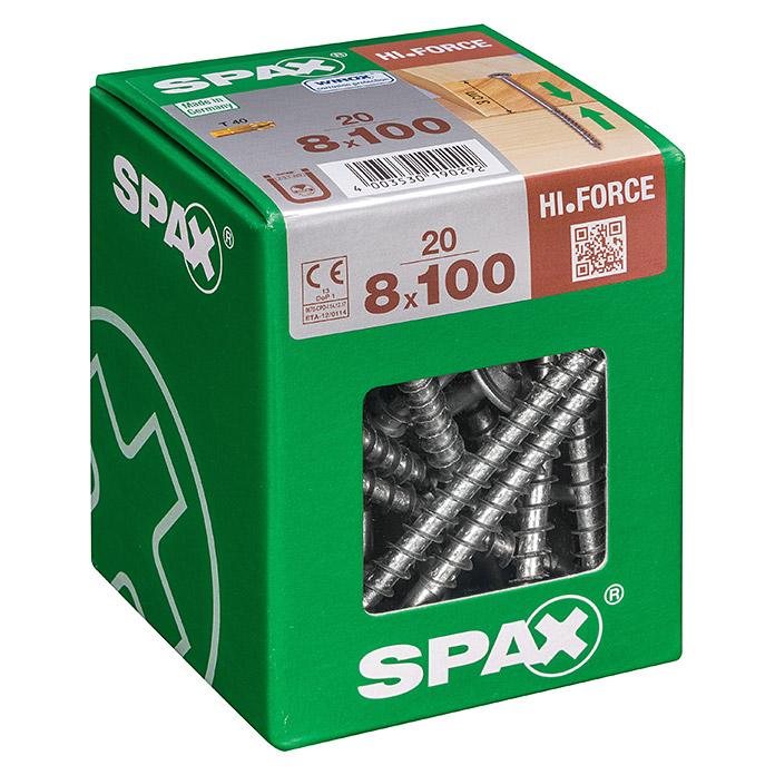 SPAX Tellerkopfschrauben HI.FORCE Ø x L: 8 x 100 mm