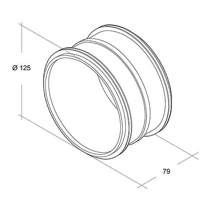 Air-Circle Raccord de tuyau à agrafage enroulé Ø 125 mm